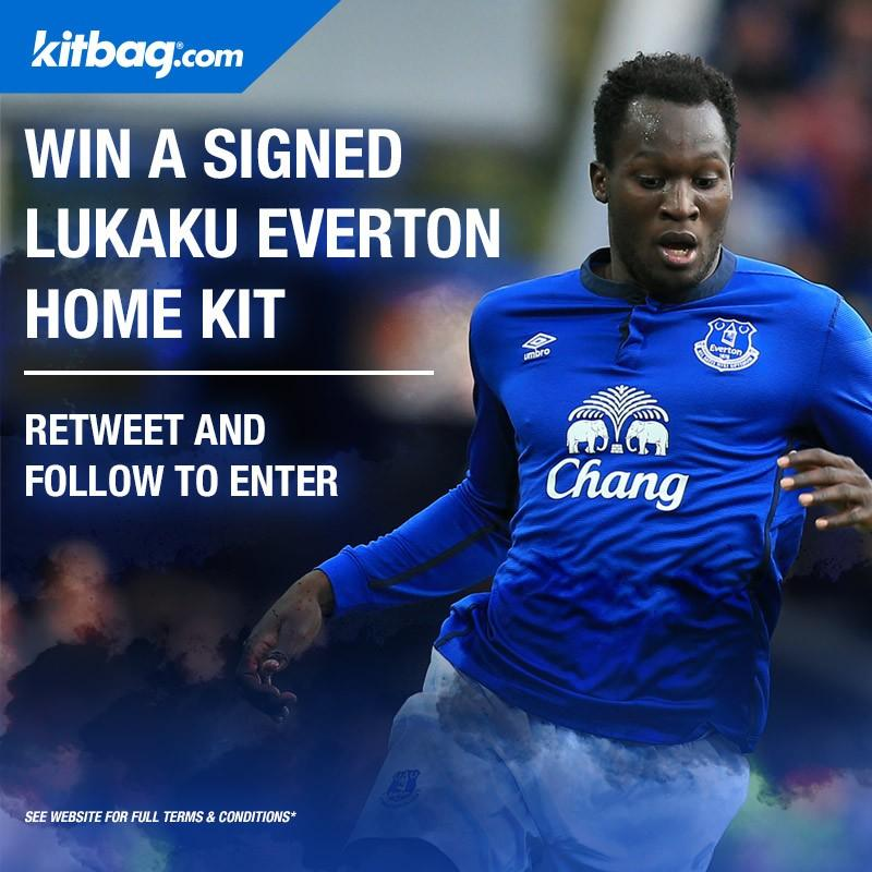 RT @KitbagUK: If Lukaku scores today against Crystal Palace, we'll giveaway a signed Everton shirt! RT + follow to enter http://t.co/XwTAod…