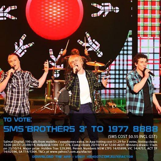 #Nobottom3forBrothers3!!! Please vote for these boys. #scottishBros @Brothers_3MUSIC @thexfactor_au http://t.co/f3rGonKPfI