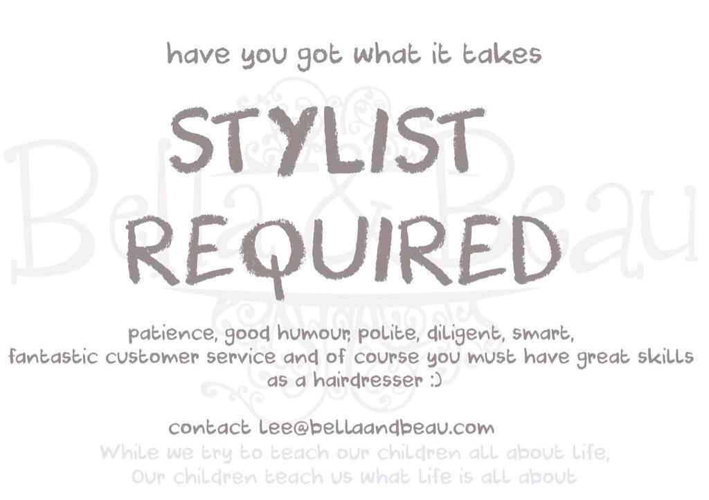 RT @BellaandBeauLDN: Attention awesome stylists of London we're hiring! #stylistwanted #nottinghill http://t.co/VbtGBRGN0D