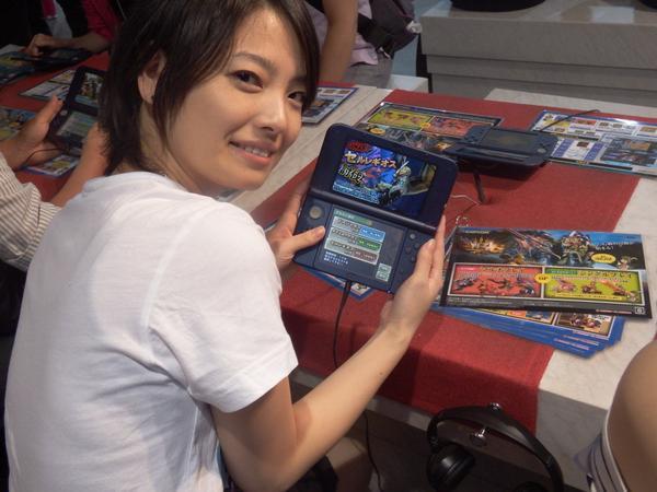 ゲーム中の岩瀬佑美子