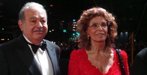 Sofia Loren e Carlos Slim al centro del Gossip
