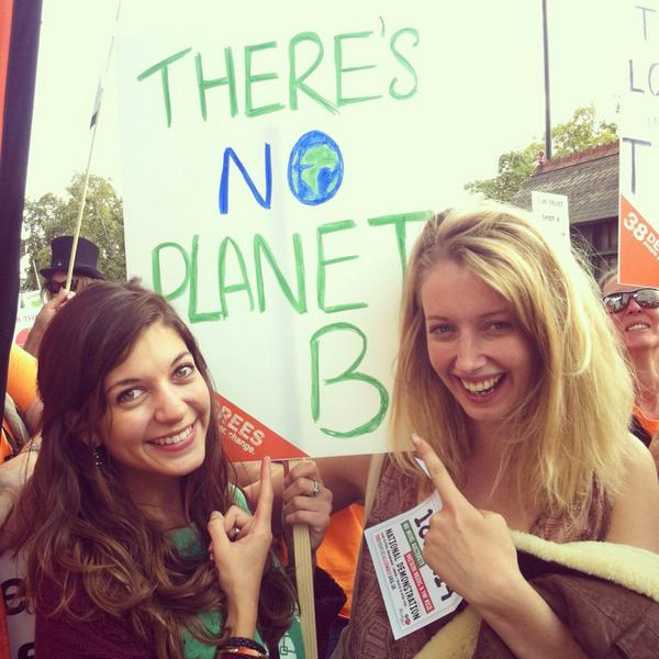 There's no planet B! #fortheloveof #PeoplesClimate #ClimateMarch @Emma_Attwell