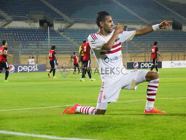 Pic: Mo'men Zakaria celebrating his 1st hat-trick with #ZSC. http://t.co/2aVvAw8hsu