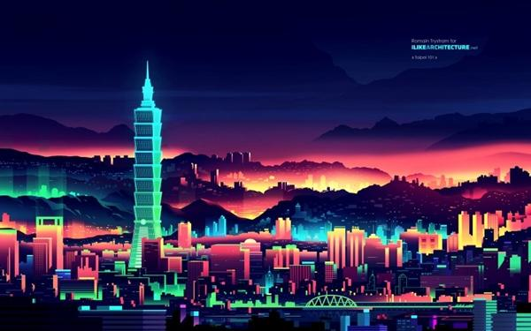 Neon wallpapers depict world skyscrapers - see more here: http://t.co/jHO0VIaOhT #art http://t.co/TqlcwSempo