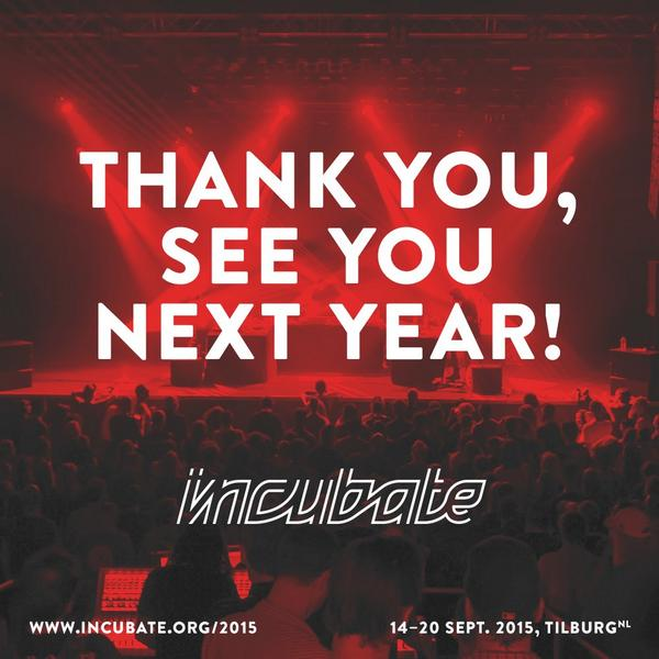 Thanks to every single one of you for creating such a fantastic atmosphere at #incu14! See you at #incu15 14-20 sept! http://t.co/ifjhYC8Z3L