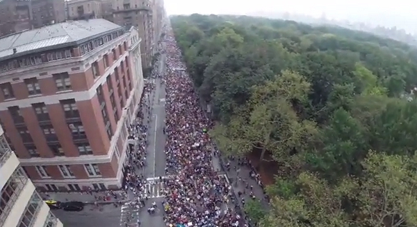 Aerial from the #climatemarch #CWNYC - https://t.co/4xxkVxsCEF #Climate2014 #weather2050 #climate #YEARSproject http://t.co/QO3Bno9Q4C