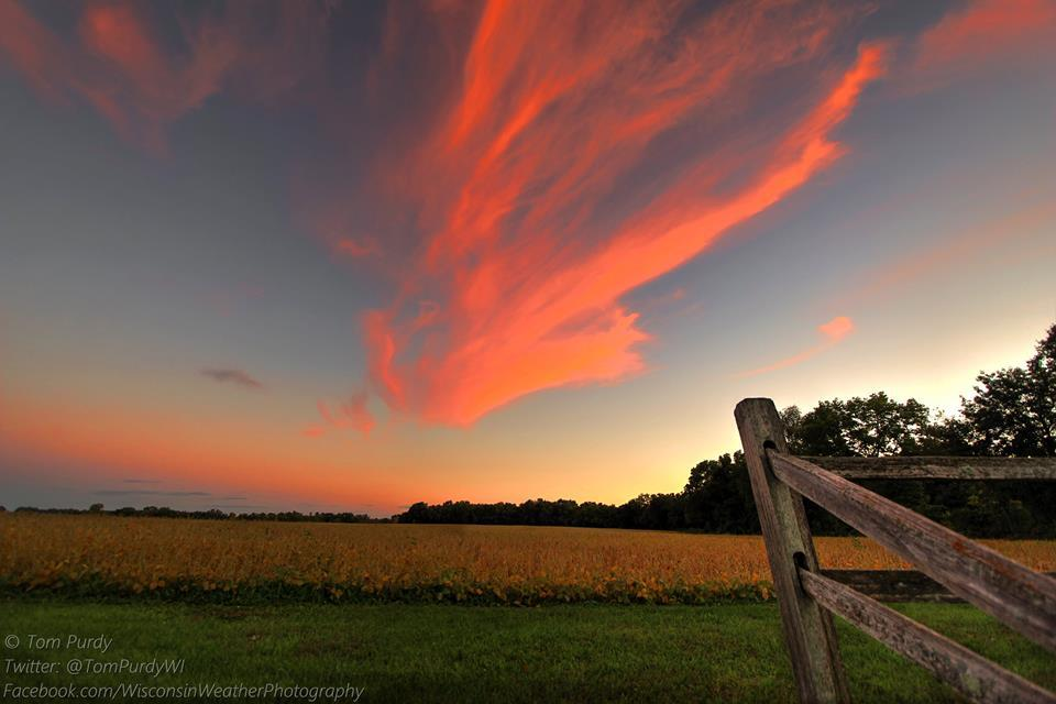 A beautiful end to the final full day of summer in southern Wisconsin by Tom Purdy