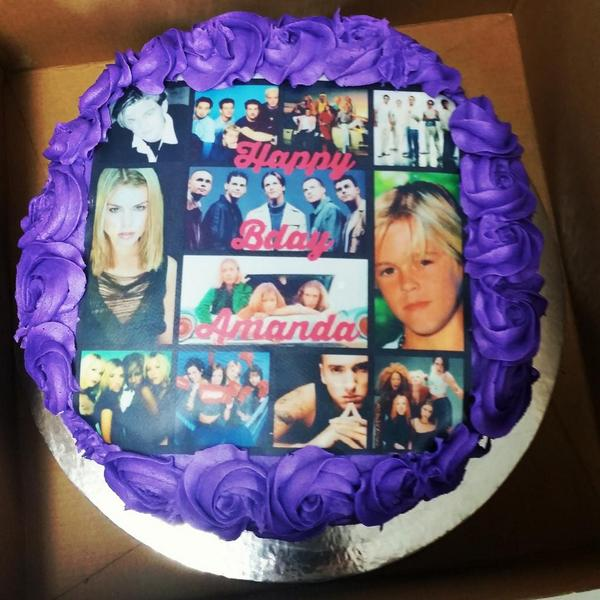 My Awesome Bday Cake Official5ive Hansonmusic Aaroncarter Backstreetboys Billiepiper Nsync Bwitchedreunion