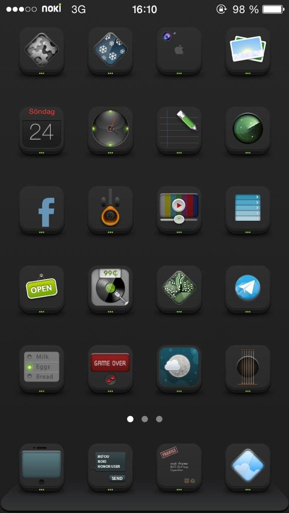 Morning everyone, noki.bkack.iOS7 was submitted to Cydia over the weekend (and same as Noki, it's free for a while) http://t.co/9uNZYWYK4K