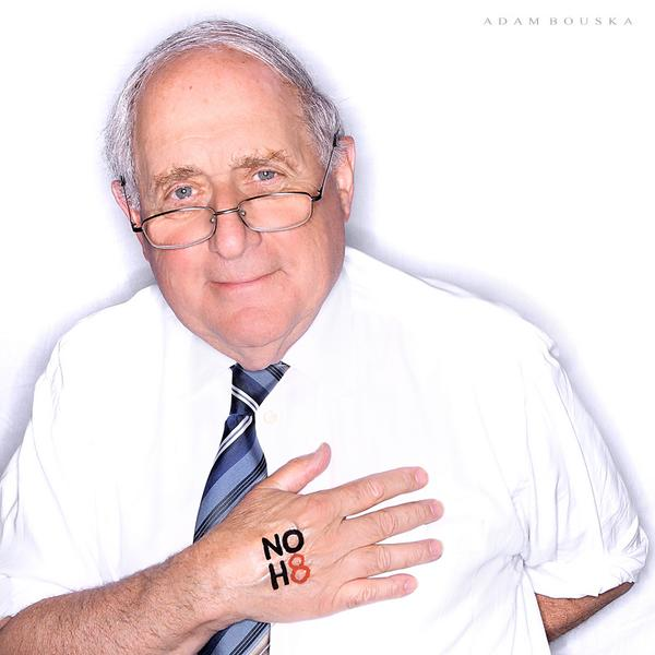 """Carl posed for the #NOH8 campaign because marriage equality = """"simple human dignity."""" @NOH8Campaign http://t.co/dYcYWze0iK"""