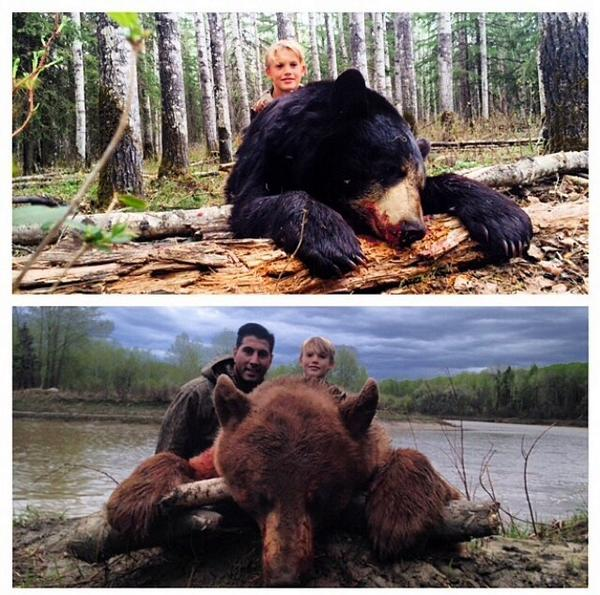 Bear hunting runs in the family. Maddux and Daddy #MNF @nyjets http://t.co/AxZ5D6Tccz