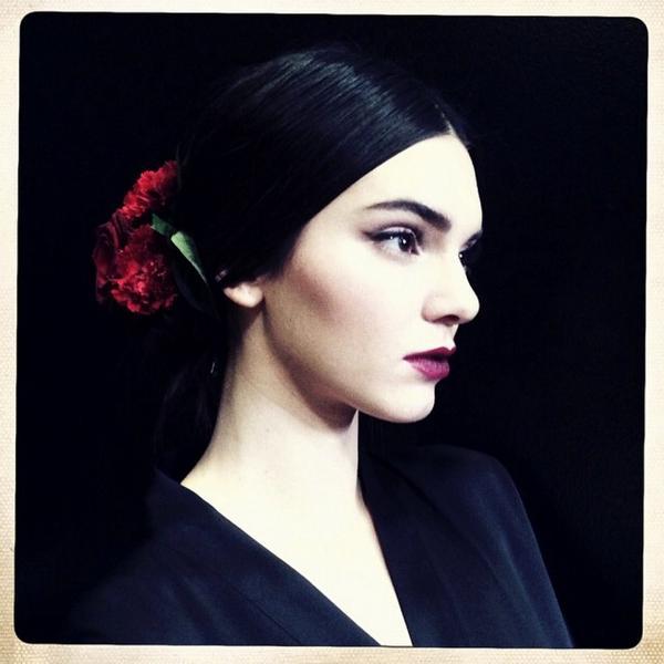 #TheLook @dolcegabbana #dolcegabbana @stefanogabbana #dgss15 #ss15 #DGwomen #makeupbypatmcgrath with @KendallJenner http://t.co/24urPM0Swj