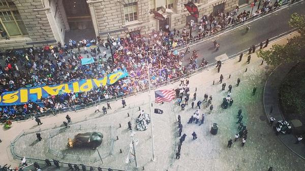Thousands of climate activists are on Wall Street right now: http://t.co/EmiGb8G0gn  #FloodWallStreet http://t.co/AXwS9s03xz /via @mashable