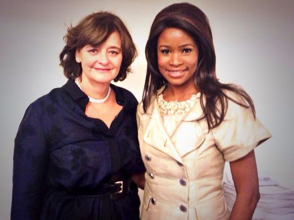 Inspiring talk today by .@CherieBlairFndn founder Lady Blair speaking on women's issues cc .@LauraJStebbing #UNGA2014 http://t.co/SMhNe7Zab9