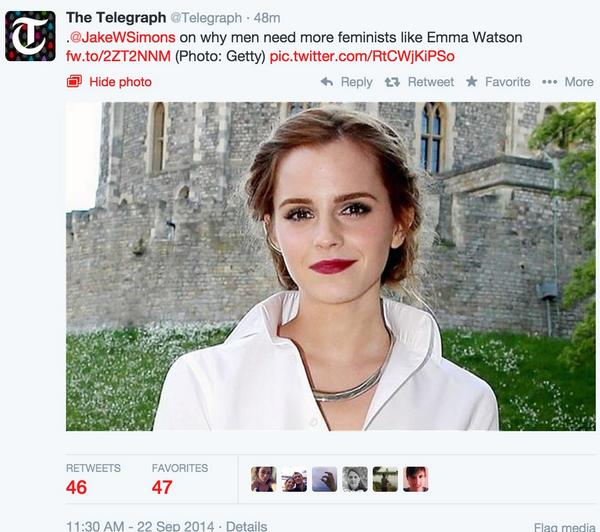 """on why men need more feminists like Emma Watson"" ""why men need"" ""why MEN need"" *blinks* https://t.co/vkGrlLB62A"