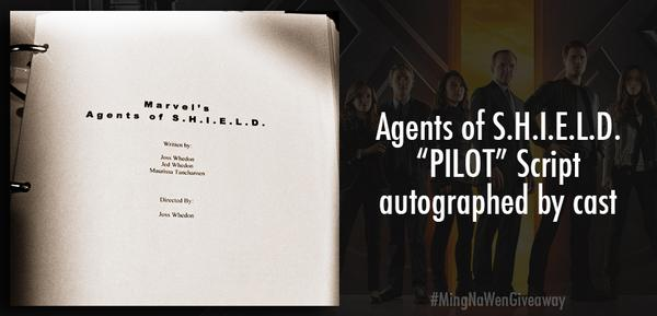 "Counting down 2 tomorrow! RT for a chance to win #AgentsofSHIELD ""Pilot"" script signed by cast!   #MingNaWenGiveaway http://t.co/O2aXT5V1yY"