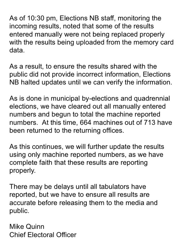 Full statement from Elections NB. #nbvotes http://t.co/AIYyMI3AdB