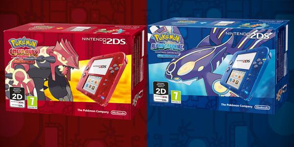 Nintendo 2DS transparente Pokémon Rubi y Zafiro