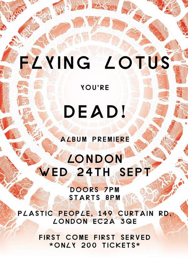 There's a chance to hear the new @flyinglotus album in full at @plastic_people tomorrow http://t.co/zsd51tUJTk