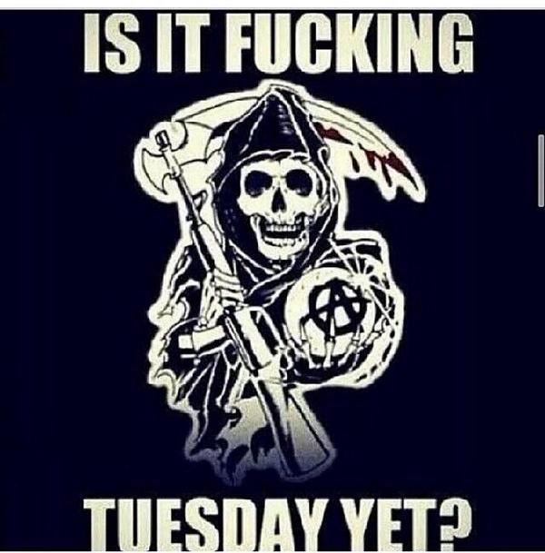 Fucking Teller Tuesday #FinalRide #SonsOfAnarchy #TellerTuesday #HamletonHarleys @SonsofAnarchy @SOAdotNET @sutterink http://t.co/xzpnsn8ERn