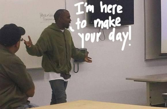 It's back to school…with #KanyeWest??! Read ALL about his speech at an LA college HERE: http://t.co/osMGvgjWSP http://t.co/wZ2ToYwS1e