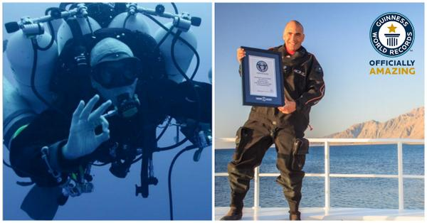 Man Sets New World Record For Deepest Scuba Dive After Plunging More Than 1,000 Feet