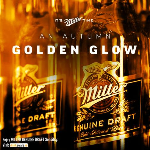 Enjoy this golden season and Miller Genuine Draft, Autumn's here… #ItsMillerTime. http://t.co/kmy4JD6qgv