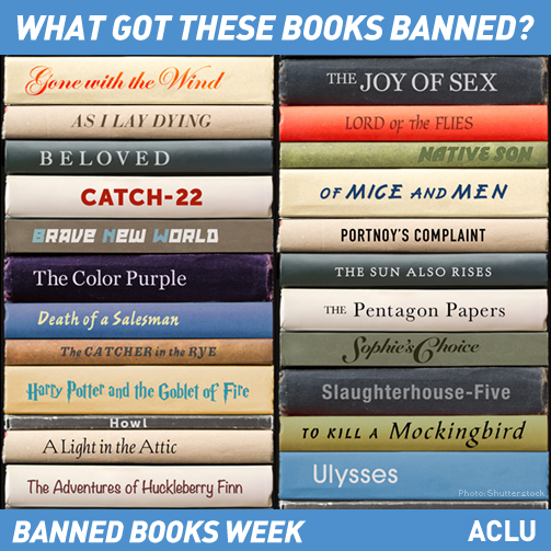 """banning of books and knowledge Banned books week 2014 fast approacheth, marching to the cadence of its creed """"thou shalt not inhibit free speech"""" an annual celebration of the freedom to read."""