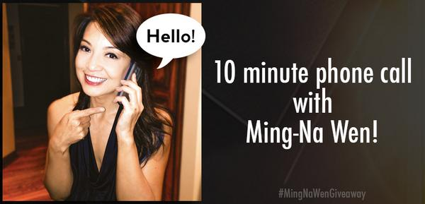 Ok last #MingNaWenGiveaway! RT for a chance to win a 10min call w/ me!  #AgentsofSHIELD S2 premieres TONIGHT on #ABC! http://t.co/9mAEKrKhkh