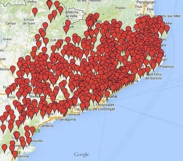MAPA: 782 ajuntaments donen suport a la consulta #9N2014 i hi prestaran suport logístic http://t.co/DfJfeYbkZx http://t.co/LM2t5QPQDT