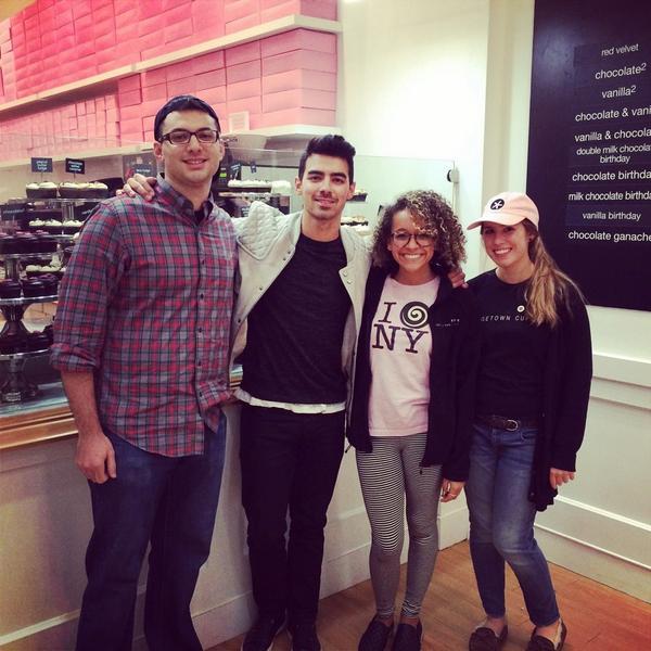 Joe Jonas at our SoHo NYC store today!! http://t.co/JxPjlciL9l