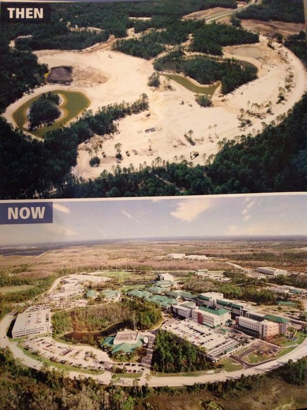 Then & now pictures show #FGCU's growth over 2 decades. They've done a little bit of construction. #ednp http://t.co/3pCGbMecXs