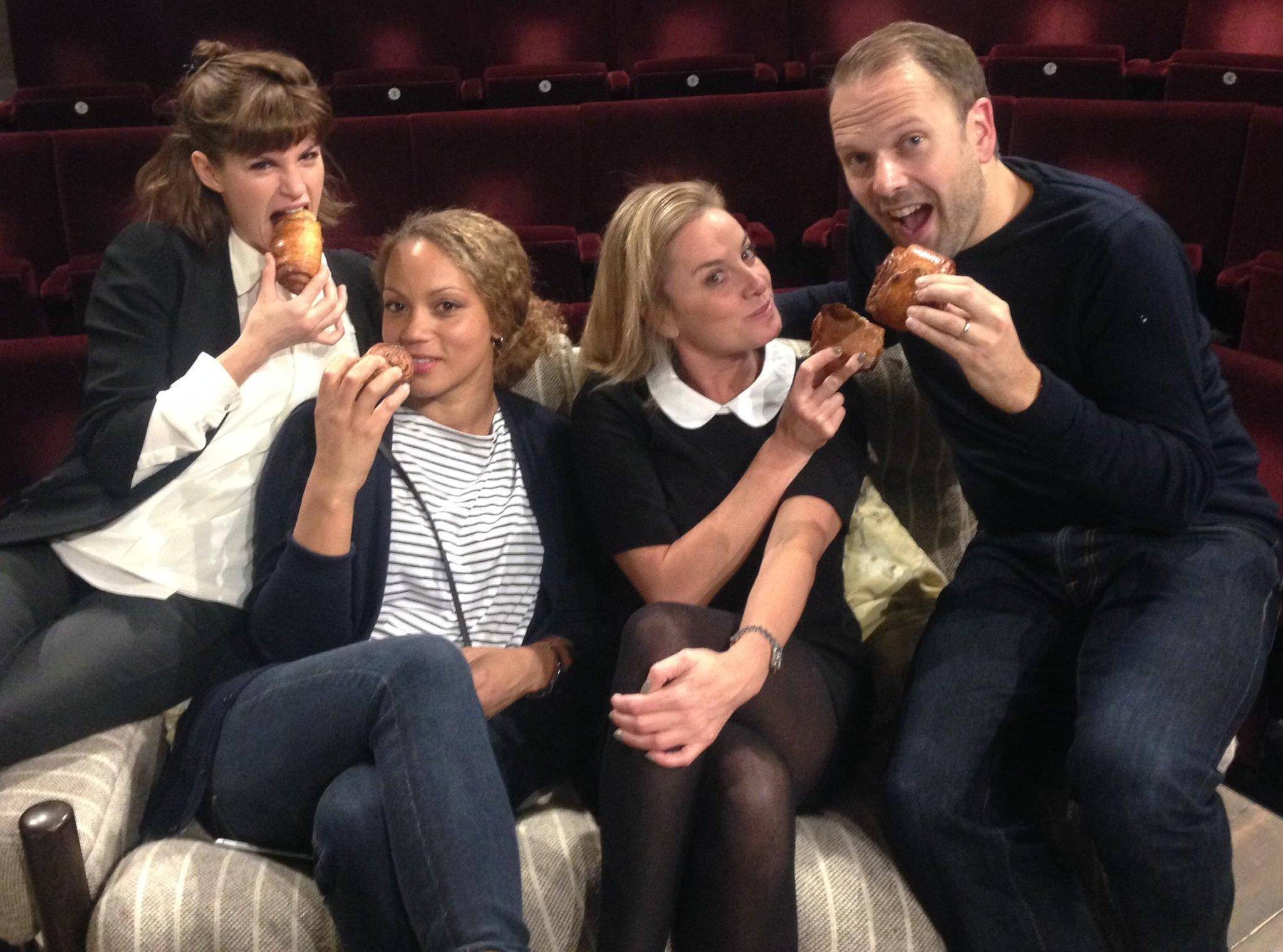 RT @BreedersPlay: Our fab cast @CaptainPooper @Angela_Griffin @mouthwaite @nicheburns enjoying @nordicbakery's brilliant cinnamon rolls htt…