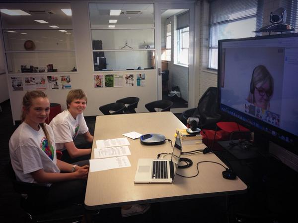 Josh and Brianna are ready to take part in the Google+ in 15 mins with the Committee #CRC25 @unicefaustralia http://t.co/ioztxZyLrM