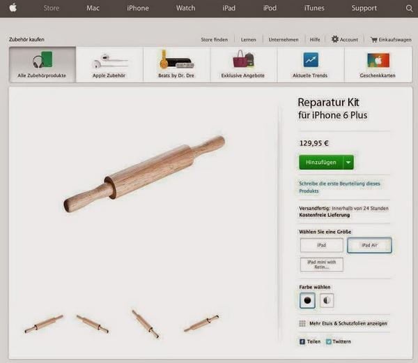 Negli Apple Store spunta la soluzione agli #iPhone6 che si piegano! #bendagate http://t.co/6n1W6xbw4X
