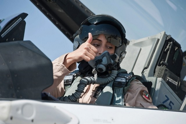 Love that #UAE pilots who bombed #ISIS #Syria led by female commander. Maj Mariam Al Mansouri. #ladyliberty http://t.co/VJb49bOvds
