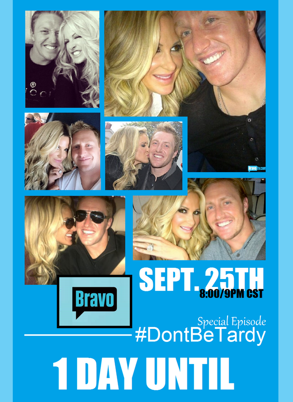 Only 1 more day til a special episode of #DontBeTardy! Tune into @BravoTV tomorrow night @ 8/9p CST with @KimZolciak! http://t.co/O2jepLyVc8