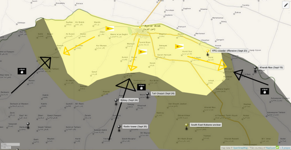 Agathocle deSyracuse on Twitter Kobane MAP UPDATE final battle