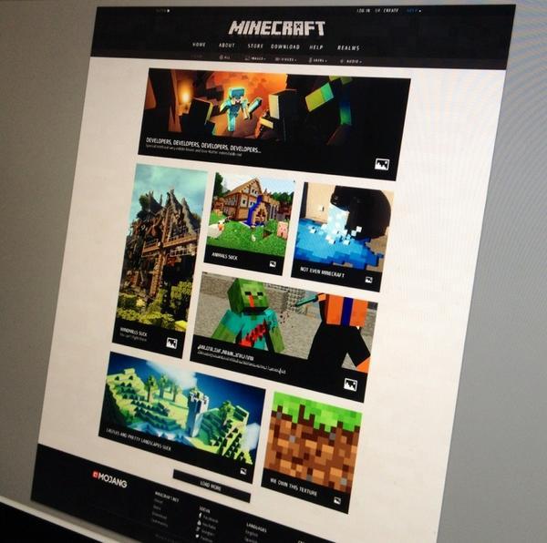Minecraft.net Homepage