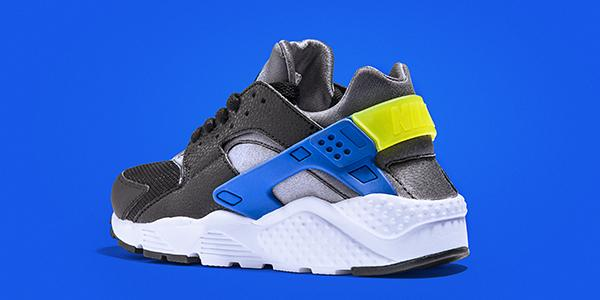 nike huarache junior blue