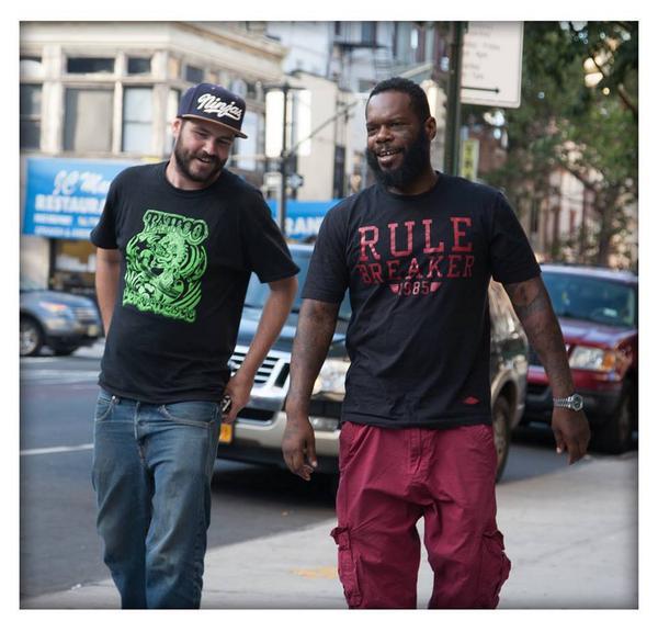 (Photo by Sun Bronx) @OliseForel Politickin with @TekSmokeeLah of @Smifnwessun @bucktown_usa #GreatShot! http://t.co/OK0WrOEdqF