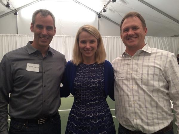Great time at Yahoo! Tonight with @BlueRudder & @marissamayer http://t.co/YMCOhakm1A