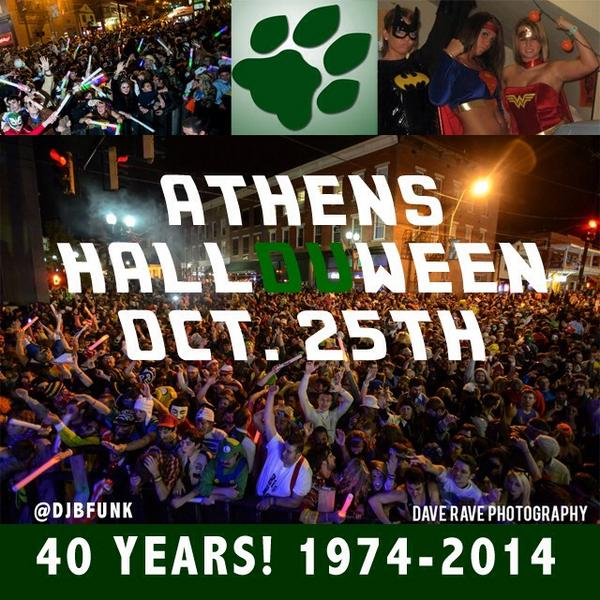 Athens HallOUween turns 40 this year! Date is set! R U READY? #athenshallOUween40 #ouohyeah #savethedate #OUisbetter http://t.co/xwOd9gTmfe