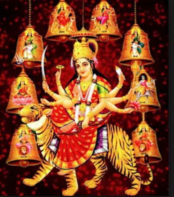May the Goddess of health,wealth and happiness shower her blessings on us..#Navratri2014 #ProudIndian http://t.co/7Jh5Bp6zJR