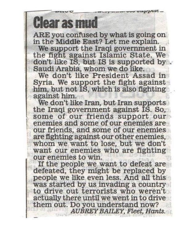 the most coherent snapshot I've read about Middle East. Read it. RT @matthewteller RT @MrStuartLodge: Gulf War 3.0 http://t.co/NVWPvzgqnl