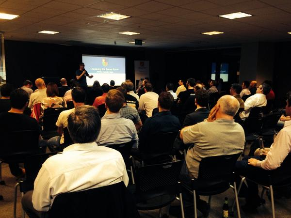 Great turnout 4 @AWSCloudANZ #UserGroup in #Brisbane thanks WilstomHTM - #scalability #aws #cloud http://t.co/AtElh9h5g0