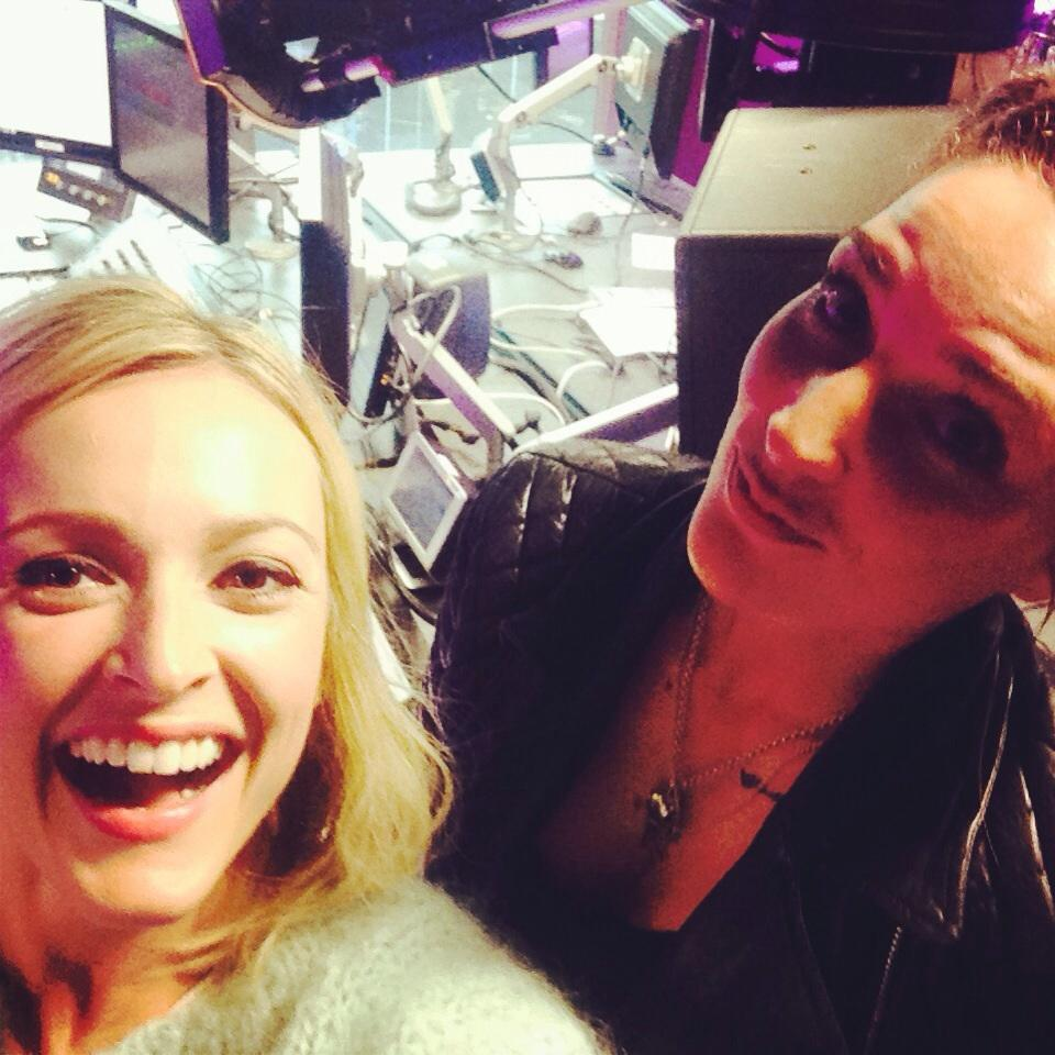 Me and Indiana having a laff ahead of her live lounge today #R1Indiana http://t.co/cZ5ImuX2ca