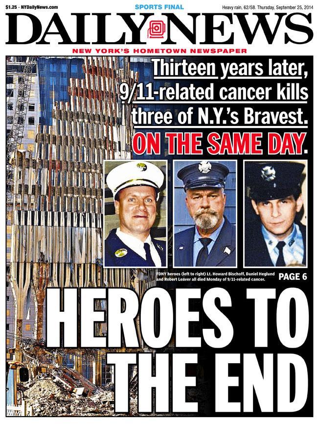 3 pompieri 11 settembre morti di cancro