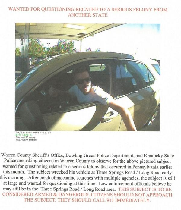 ALERT! Police are looking for this man. Please help get the word out! http://t.co/ZerzE6lpeI