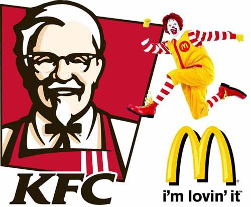 comparison between kfc and mc donalds Quality control of mcdonalds is better in pakistan as compared to kfc i have personally returned meals twice at kfc i know people in my family who have returned kfc's meals many times.